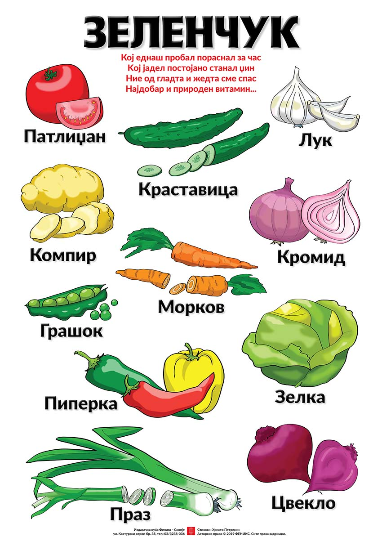 Едукативен постер - Зеленчук
